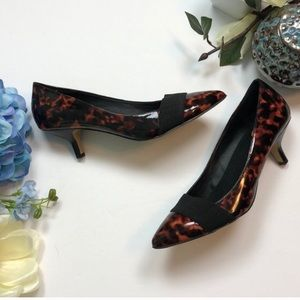 Donald J. Pliner Tortoise shell pumps